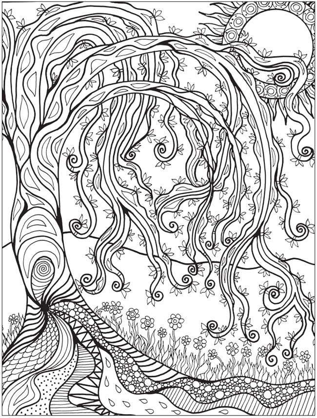 Welcome to Dover Publications Creative Haven Into the Woods: A Coloring Book…