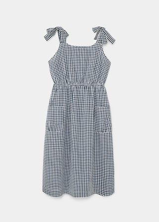 Gingham check dress | VIOLETA BY MANGO