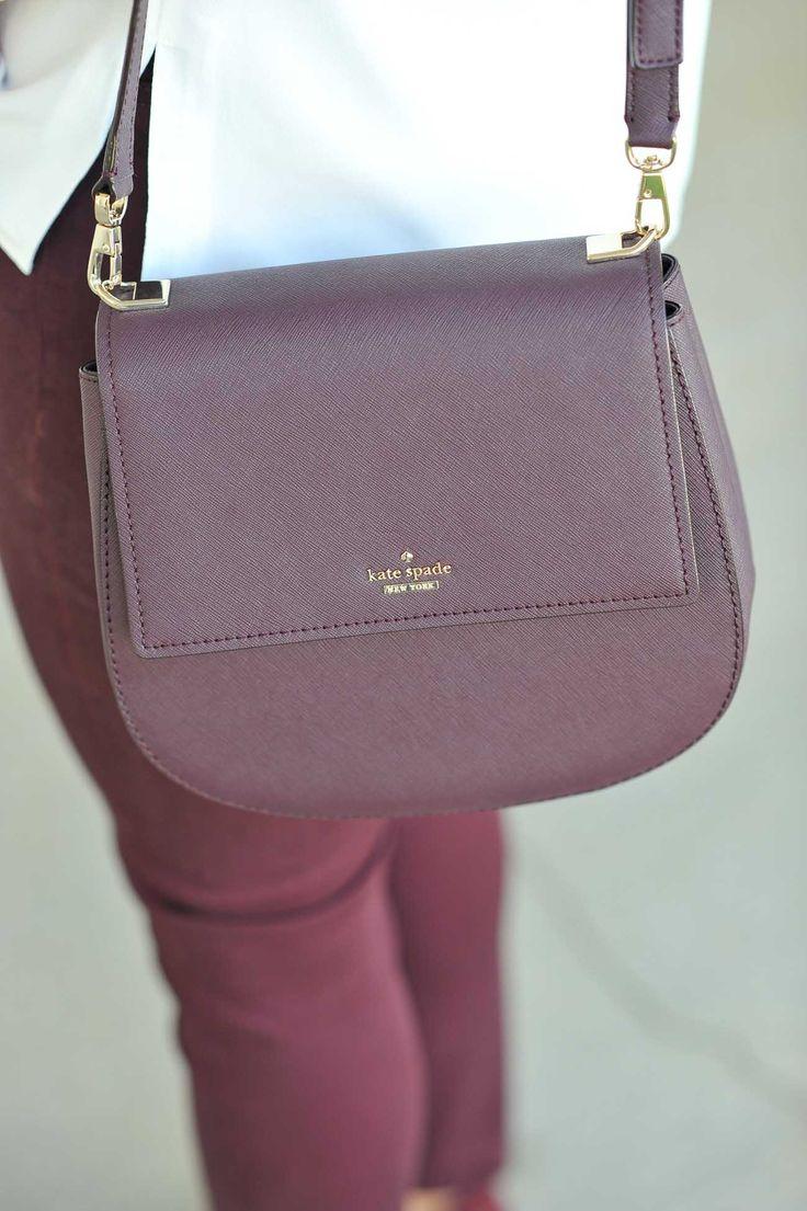 Kate Spade New York Carmen Bag, fall bags, burgundy bags for fall - My Style Vita @mystylevita