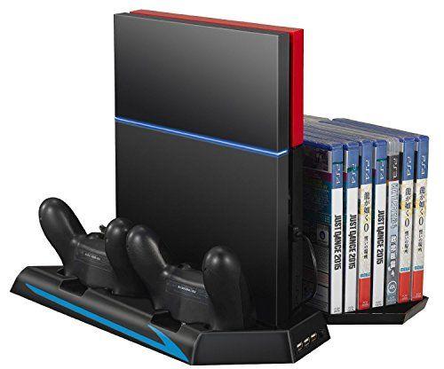 Ventilador de PS4, Rixow Soporte Vertical con Carga Emiso…