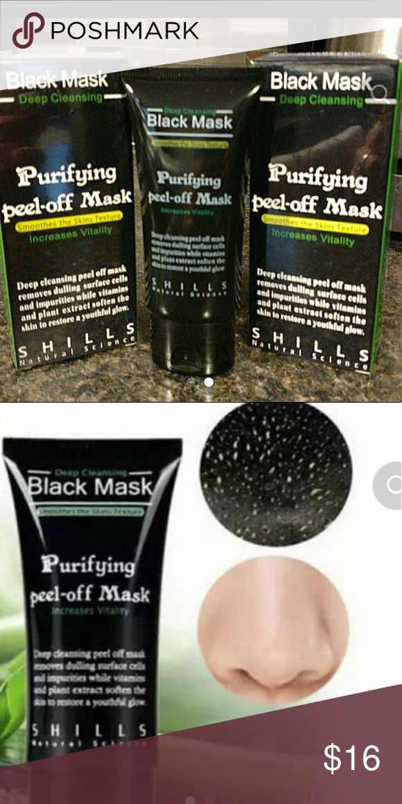 Purifying Black Peel Off Mask Qty 3 Excellent purifying mask for deep cleaning pores. Makeup
