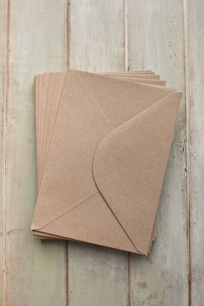 details about c5 a5 110gsm quality brown kraft envelopes recycled cards paper wedding crafts