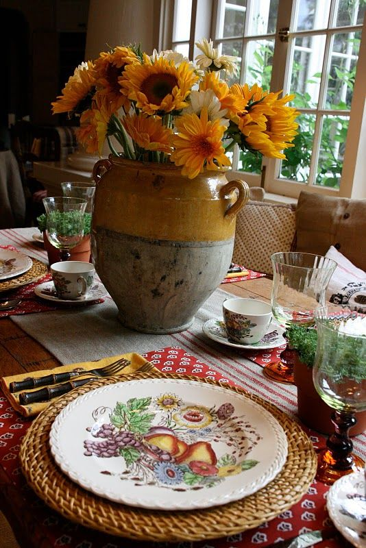 a lovely tuscan table setting vignette design b