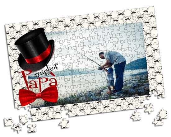 Prezioso puzzle A3 con grafica per il papà