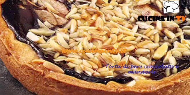 Torta di pere cioccolato e mandorle ricetta Ernst Knam   Cucina in tv