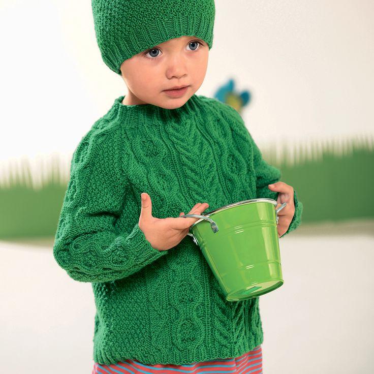 Детский свитер с «косами» - схема вязания спицами. Вяжем Свитеры на Verena.ru