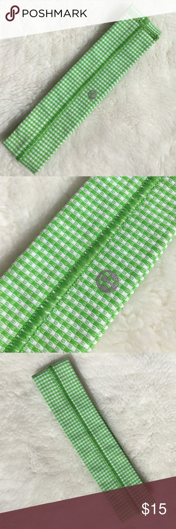 Lululemon Green & White Headband New without tag Lululemon Green & White Headband. Please look at pictures for better reference. Happy shopping! lululemon athletica Accessories Hair Accessories