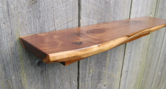 Live Edge Walnut Floating Shelf Mikes Apartment