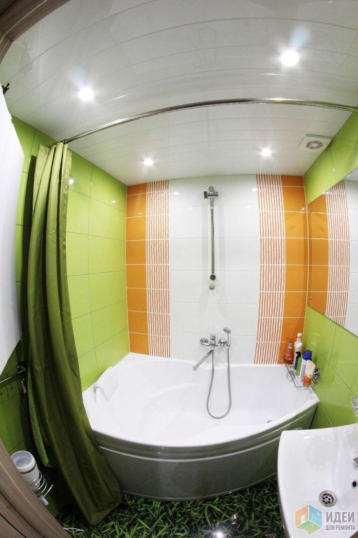 Салатная ванная комната (опять с лягушкой)