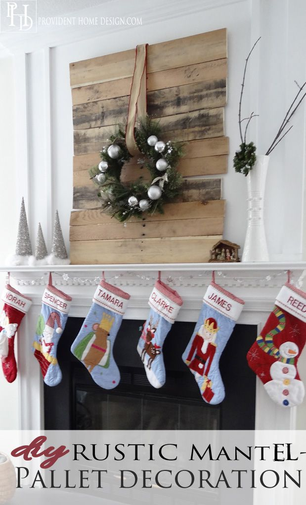 Diy christmas pallet project for your mantel pinterest for Pinterest pallet christmas ideas