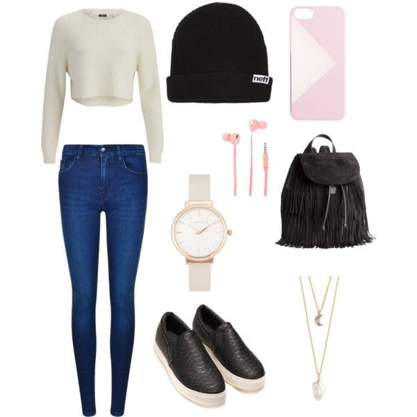 Road trip by bambyee on Polyvore featuring polyvore, fashion, style, 2nd Day, Calvin Klein, H&M, Olivia Burton, With Love From CA, J.Crew, Neff and Merkury Innovations