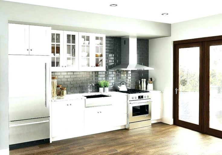 15 Ideas For One Wall Kitchen Images One Wall Kitchen Kitchen Wall Units Kitchen Design Small