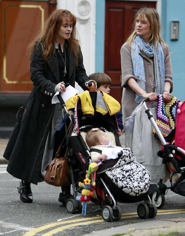Helena Bonham Carter and Billy Ray Burton Photo - Helena Bonham Carter Out With Her Children