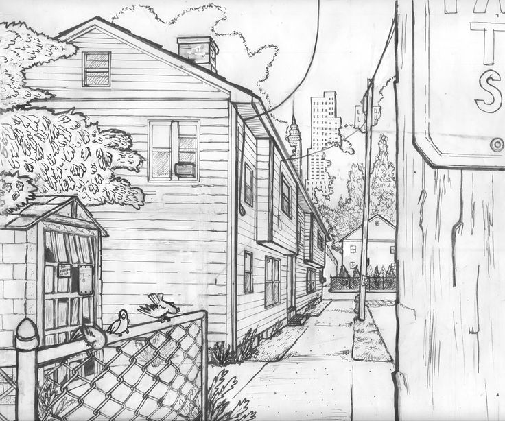Perspective Drawings Of Buildings one point perspective light and shadow | perspective | pinterest