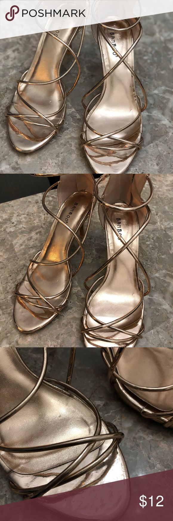 Rose gold heels 3 inch heels, rose gold copper look, can be uncomfortable if you're feet are extremely wide Shoes Heels