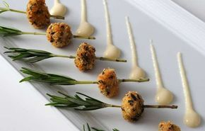Beignet of Veal Sweetbreads Recipe With Rosemary Cream