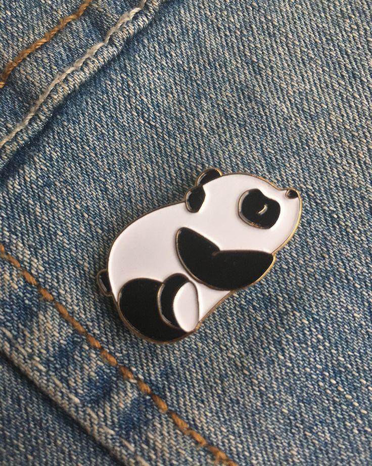 Golden Panda enamel pin
