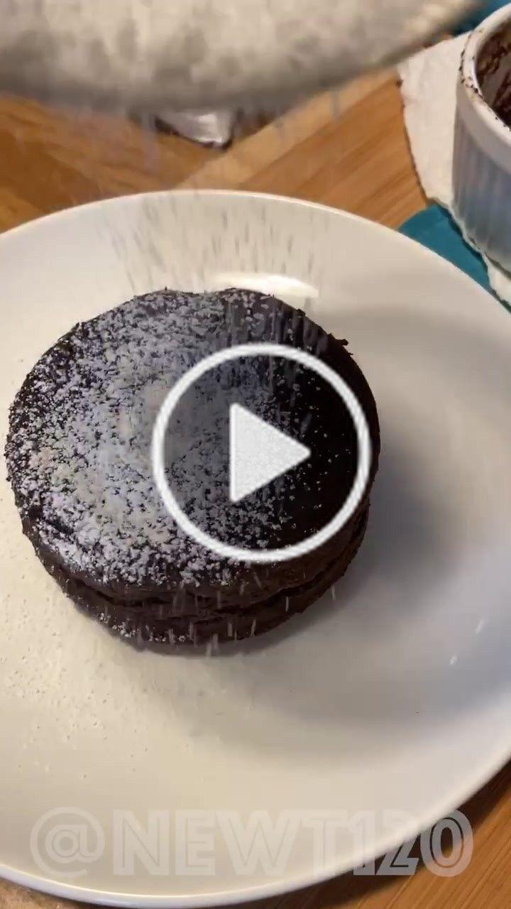 Newt Newt120 On Tiktok Chocolate Lava Cake Fyp 4you Chocolate Mug Cakes Lava Cakes Mini Desserts