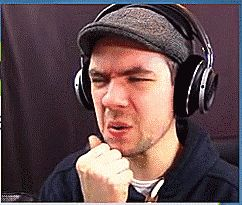 """When your friend tells you a gross joke""   Here is a cute gif of Jacksepticeye. Enjoy your day. :)"