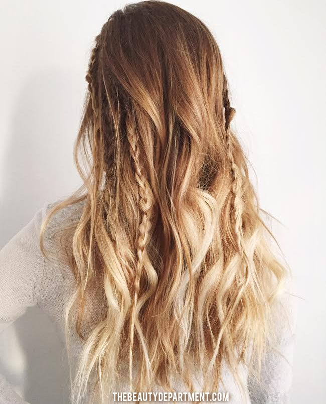 2 minute boho the beauty dept // long hair // ombré // goals // try // style // do // little or small braids