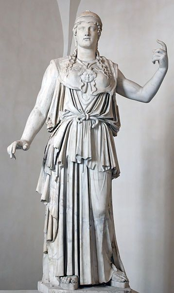 Athena was the Greek goddess of wisdom, courage, inspiration, civilization, law and justice, just warfare, mathematics, strength, strategy, the arts, crafts, and skill. Her Roman god equivalent was Minerva