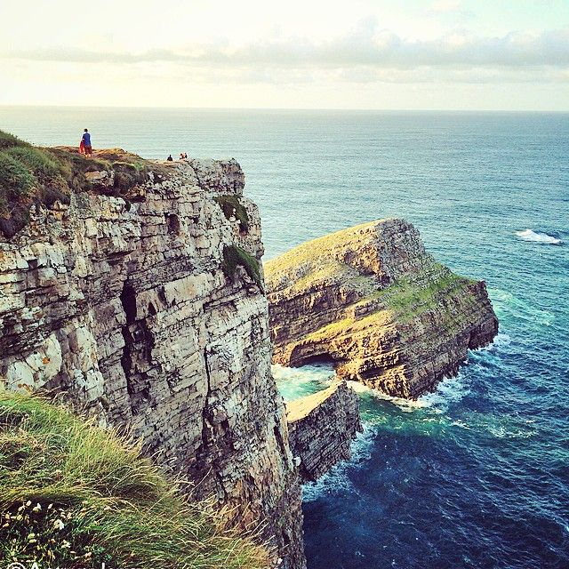 Cape Vidio in Asturias can and will make you feel small, but you will love it, and love the lighthouse too!   And if you happen to see it in the evening you will surely witness the most beautiful sunset in the whole world!!! :)