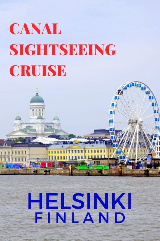 Canal Sightseeing Cruise in Helsinki, Finland with kids.