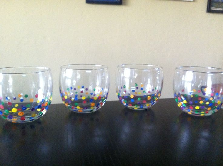 Acrylic paint on wine glasses cute ideas pinterest for Can i paint glass with acrylic paint