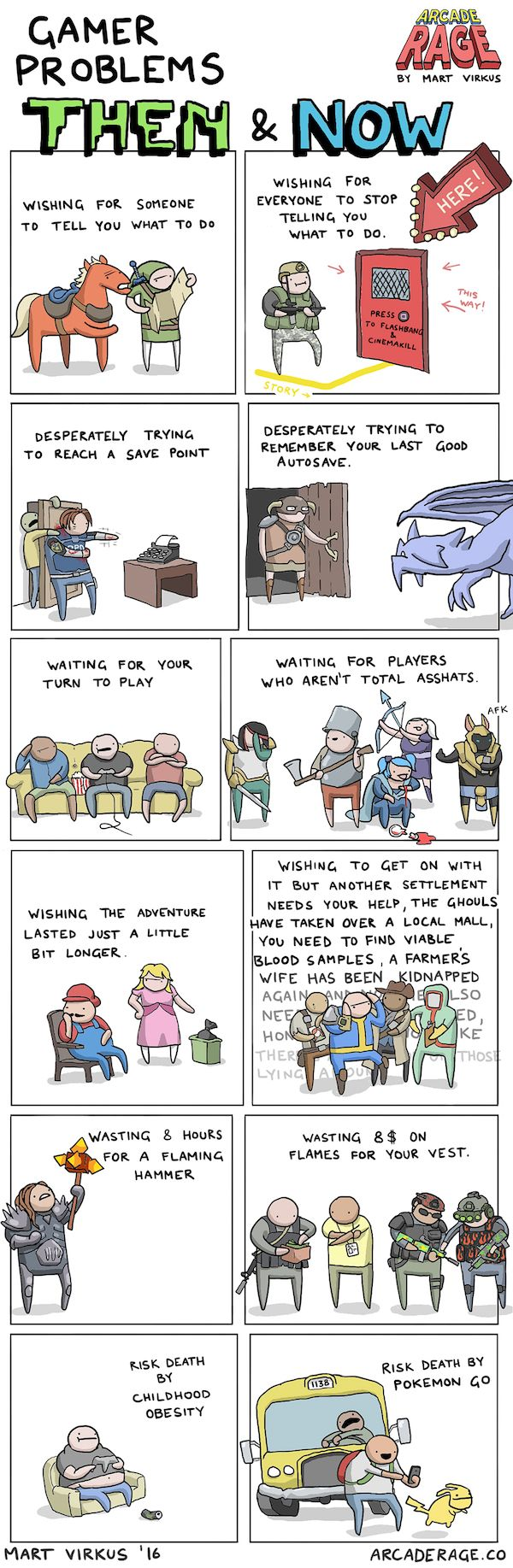 Gamer Problems in the 80's vs Today via www.arcaderage.co