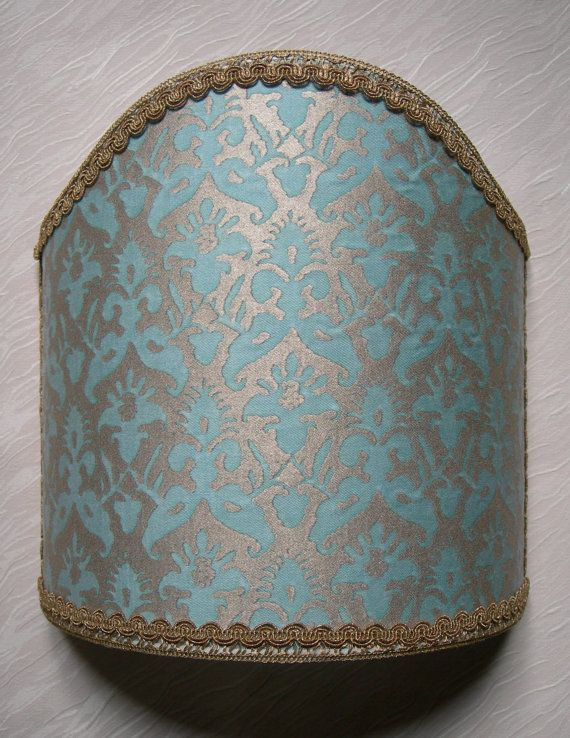 Wall Light Shield Shade in Fortuny Fabric by OggettiVeneziani, $149.00