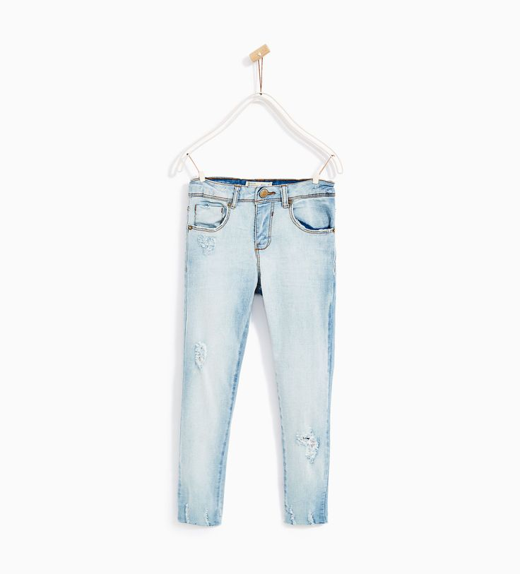 Image 1 of SKINNY FIT RACING JEANS from Zara