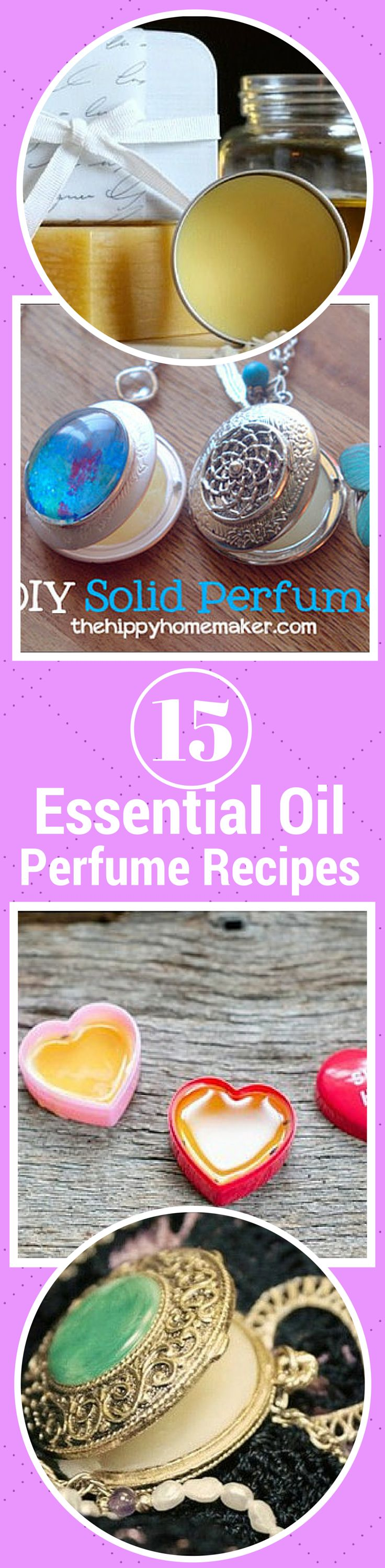 15 Essential Oil Perfume Recipes including Essential Oil Perfume Blends. See how easy it is to make your own AMAZING DIY Perfume Recipes!
