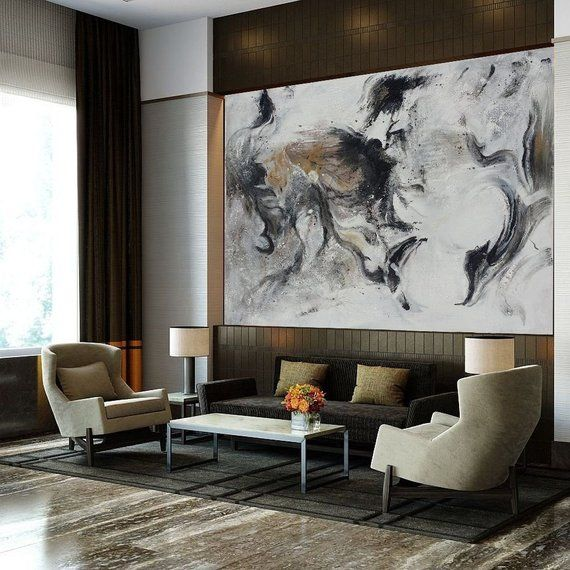 Black And White Minimalist Canvas Artlarge Original Abstract Etsy Minimalist Canvas Art Canvas Art Painting Abstract Wall Art Living Room