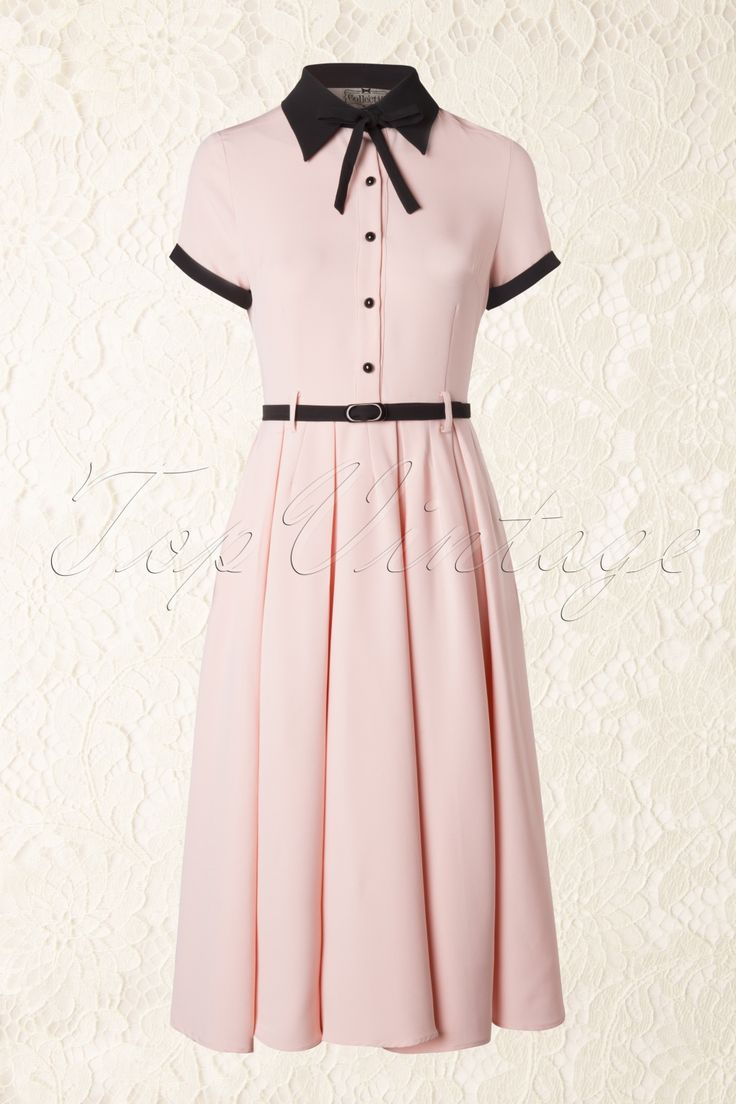 Collectif Clothing - 50s Cynthia Doll Dress in Pink