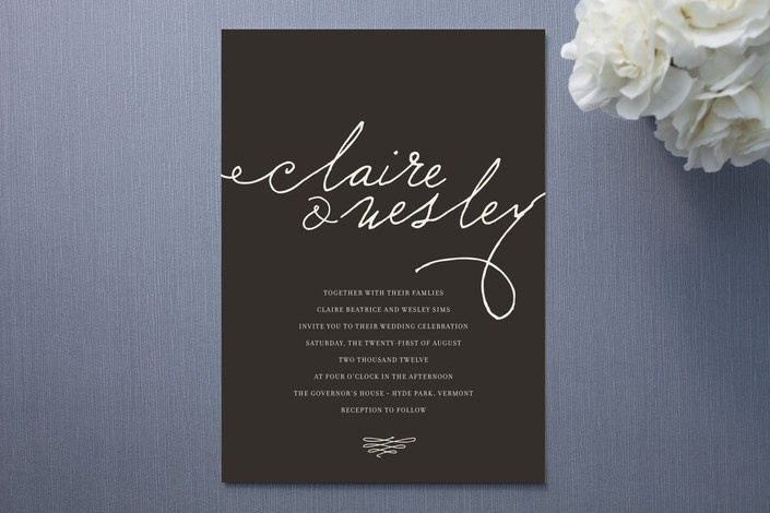 Love Letter Wedding Invitations by annie clark at Minted.com
