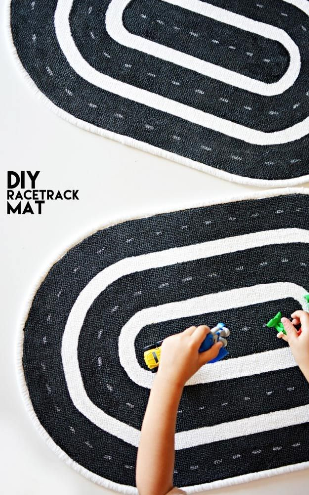 DIY Christmas Gifts for Kids - Homemade Christmas Presents for Children and Christmas Crafts for Kids   Toys,  Dress Up Clothes, Dolls and Fun Games    Step by Step tutorials and instructions for cool gifts to make for boys and girls    DIY-Race-Track-Mat-for-Kids     http://diyjoy.com/diy-christmas-gifts-for-kids