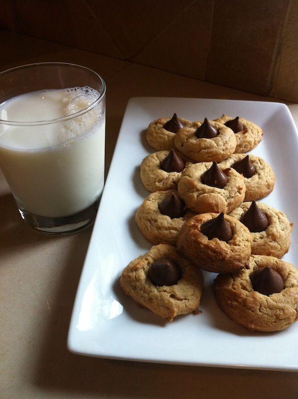 Chocolate Hershey Kiss Cream Cheese Peanut Butter Cookies Recipe