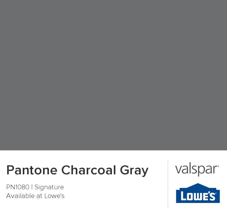 Pantone Charcoal Gray from Valspar  LibraryMusic Room in