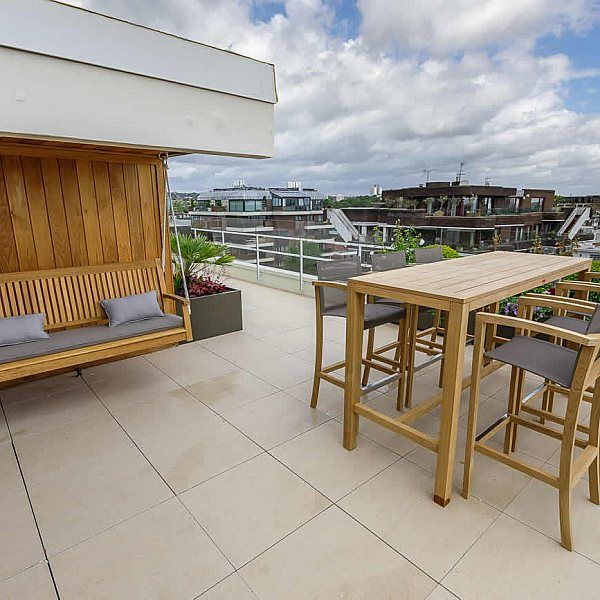 Roof terrace for Penthouse at Imperial Court Regents Park London The Garden Builders