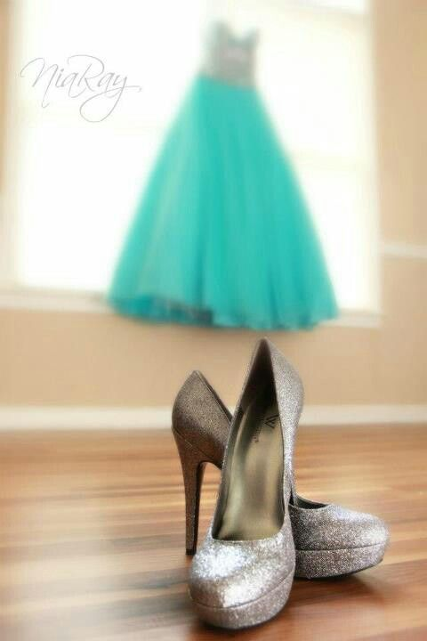 Shoe and dress idea for proms. By Nia Ray Photography