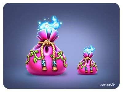 Dribbble - Magical fairy pouch by Victor Soto