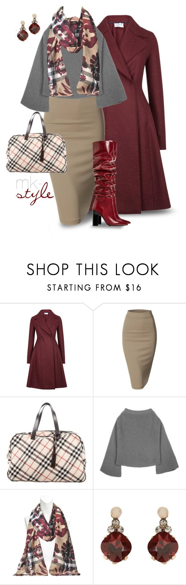 """""""Winter Workday"""" by mk-style ❤ liked on Polyvore featuring Trilogy, Harris Wharf London, Doublju, Burberry and Accessorize"""