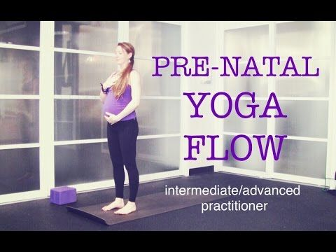 50 min Pre Natal Total Body Strong Yoga Flow | Strength, Tone, Endurance, Focus | Intermediate - YouTube