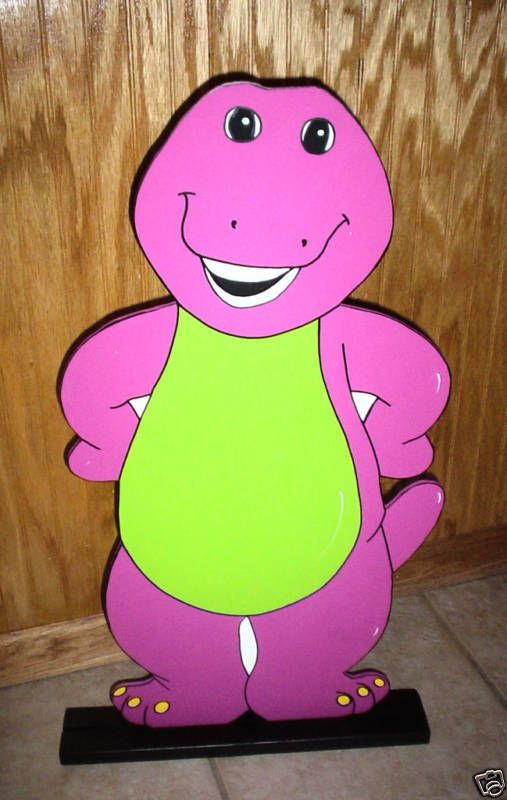 Barney stand up children's Birthday party decorations supplies #Handmade #Barney