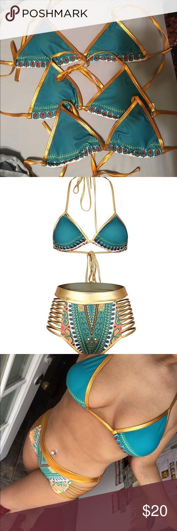 Tribal Bikini. Large bottoms, medium top. Tribal bikini. Large bottoms, medium top. Swim Bikinis