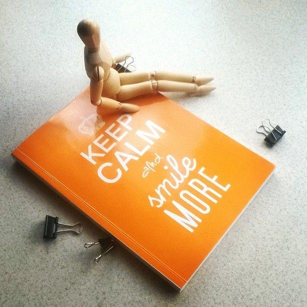 Keep calm and smile more #smile #keepcalm #Orange #inspiration #motivation #motywacja #pomarańczowy #art