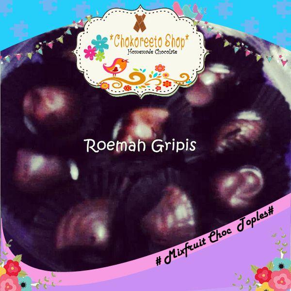 MIxfruit Choc Toples ( Coklat dark berbentuk siput yang diisi dengan rainis)