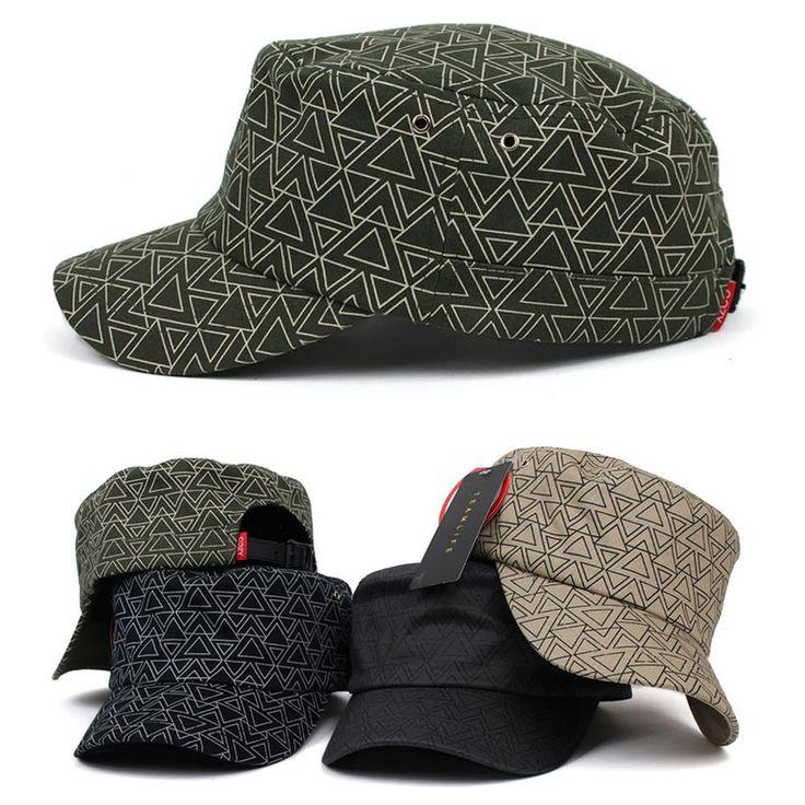 New Men Womens Army Military Cadet Patrol Castro Triangle Pattern Adjustable Hat #hellobincomENTER #CadetPatrolCastroCapHats