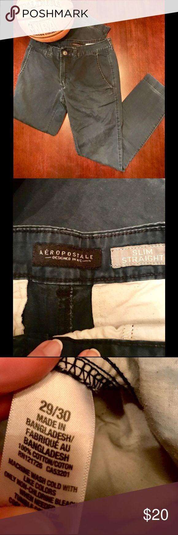 Aeropostale Men's Straight Slim Chino Pants Aeropostale Men's Straight Slim Chino Pants 29x30 Aeropostale Pants Chinos & Khakis