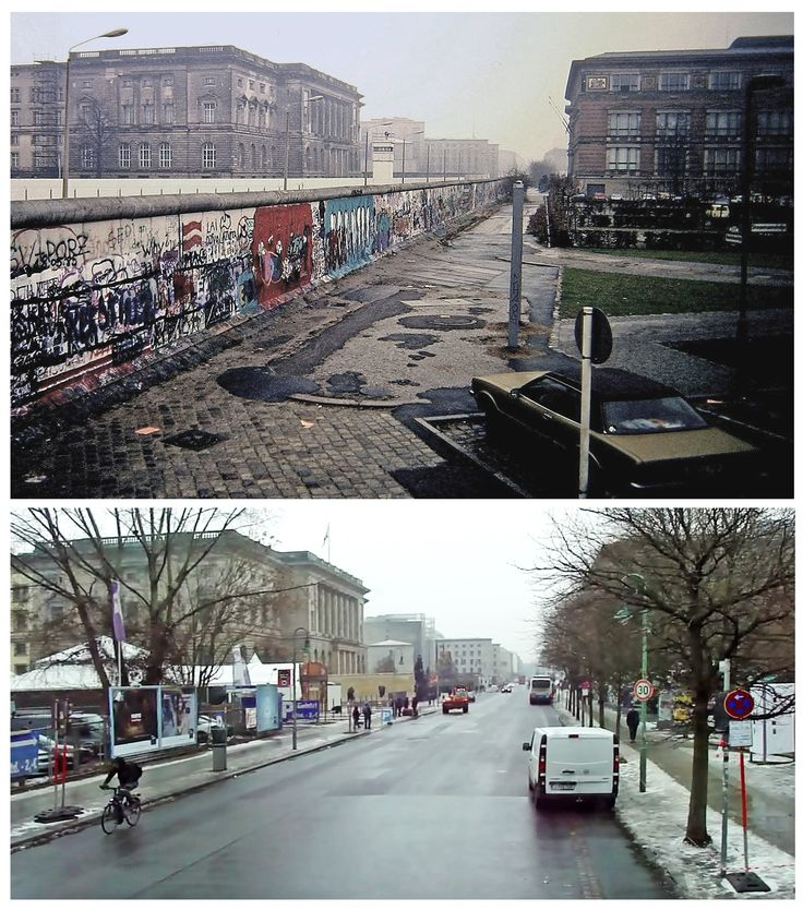Kreuzberg/Mitte, Berlin; Niederkirchnerstraße. The building to the left is Abgeordnetenhaus Berlin, to the right Marin-Gropius-Bau.